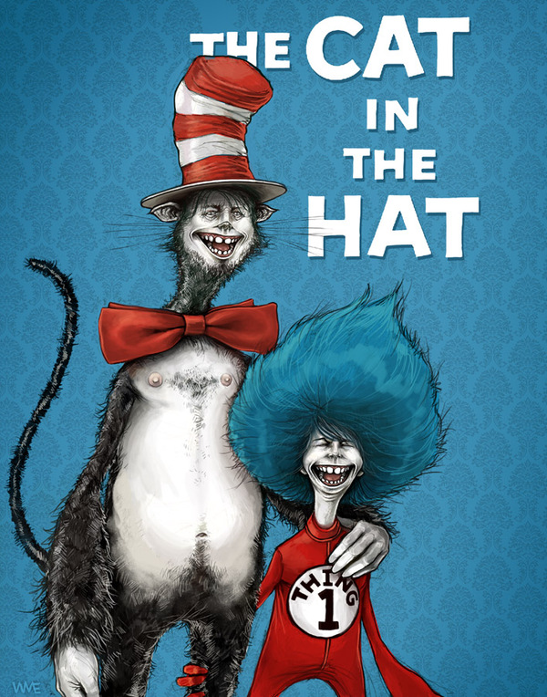 the artistic side of dr seuss who wrote the cat in the hat Just because the cat in the hat is on the cover doesn't mean he wrote it it sounds like he's referring to the cat in the hat writing the book, not seuss i knew what he meant.