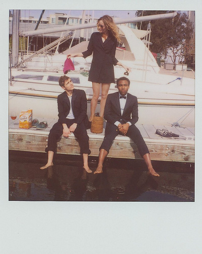 Don Glover, Leslie Mann and Dave Franco for Band of Outsiders