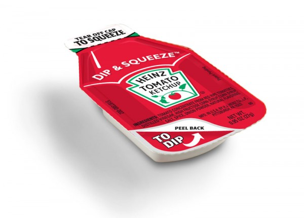 Heinz Unveils Dip & Squeeze Ketchup Packets
