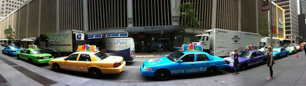 NBC 2010 Upfronts Make NYC Taxi's 'More Colorful'