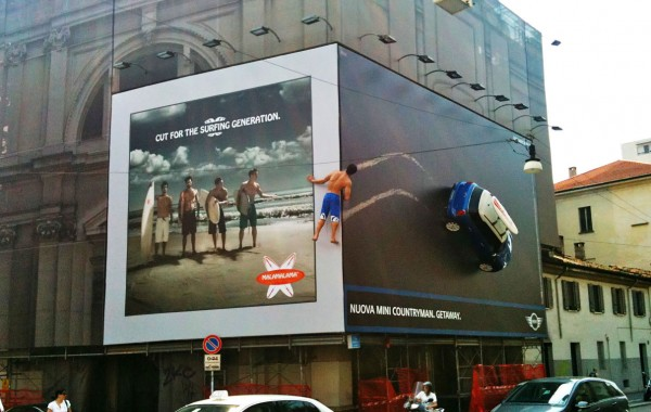 Fake Surfboard Billboard by Mini Cooper