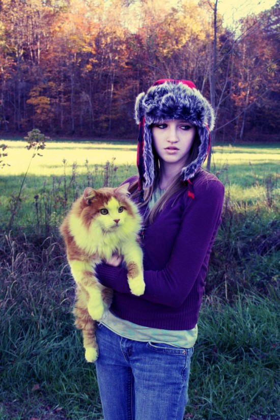 Hitchhiker_and_Her_Cat_by_MaceyLou