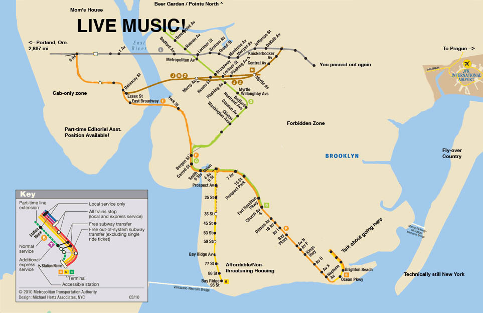 Hipster Friendly Subway Map