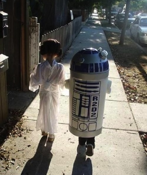 R2-D2 Trash Can Costume