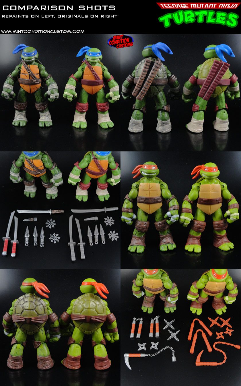 TMNT Figures Re-Painted