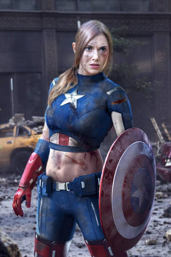 Alison Brie as Captain America